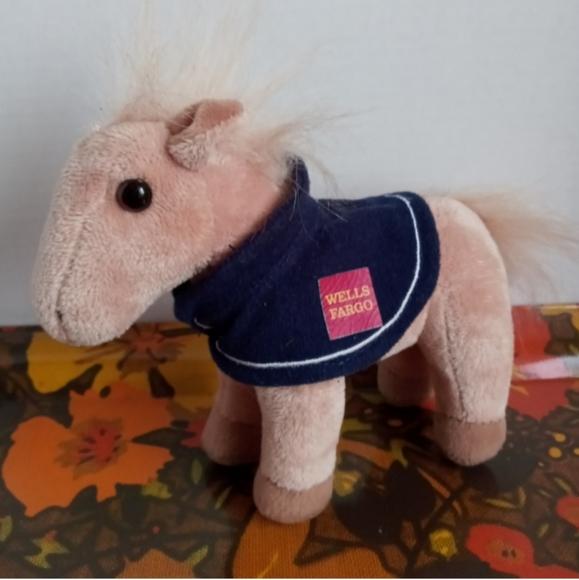 VINTAGE WELLS FARGO PLUSH HORSE